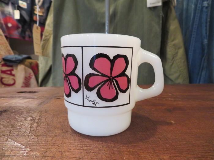 60\'s Fire King Pop Floral Mug Violet_e0187362_14381481.jpg