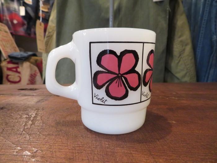 60\'s Fire King Pop Floral Mug Violet_e0187362_14411608.jpg