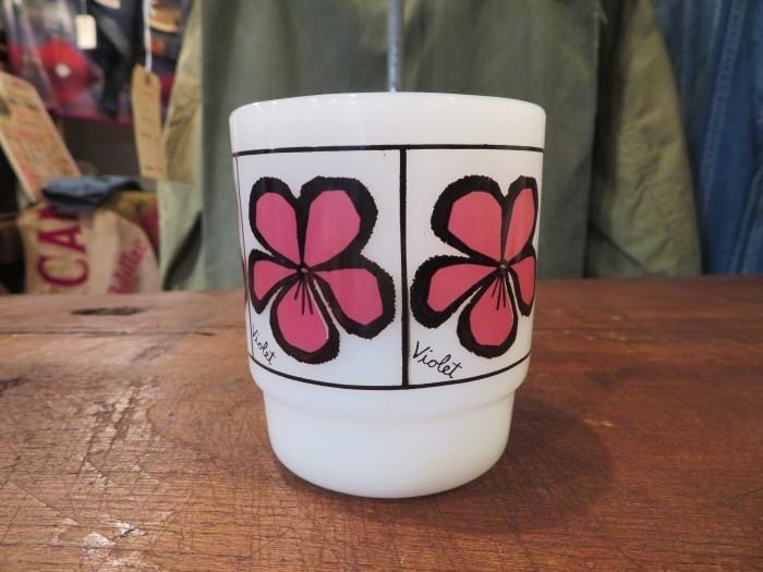 60\'s Fire King Pop Floral Mug Violet_e0187362_14420140.jpg