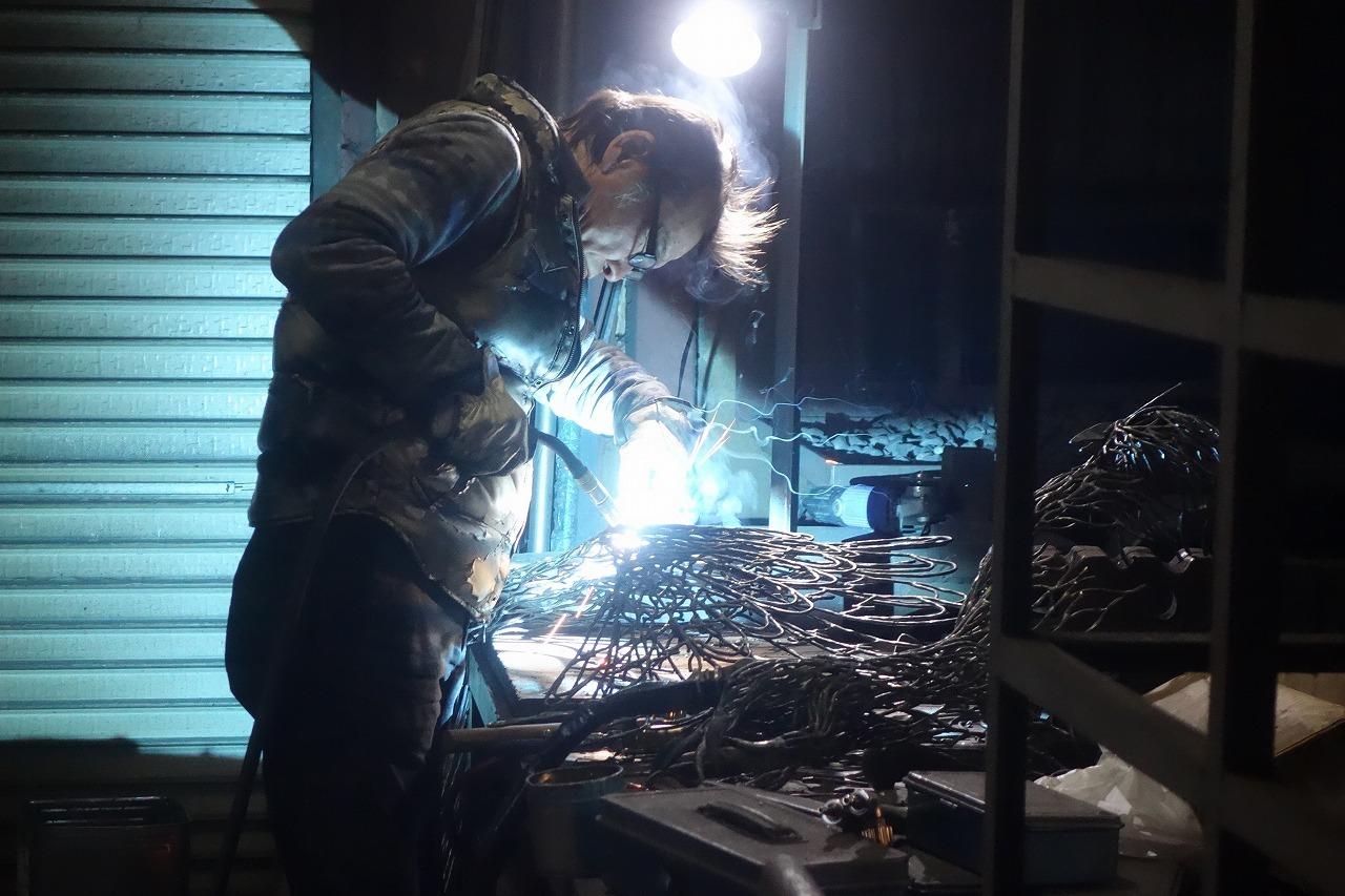 浅井憲一 鉄の彫刻「ふたつの影」_d0332375_16351198.jpg