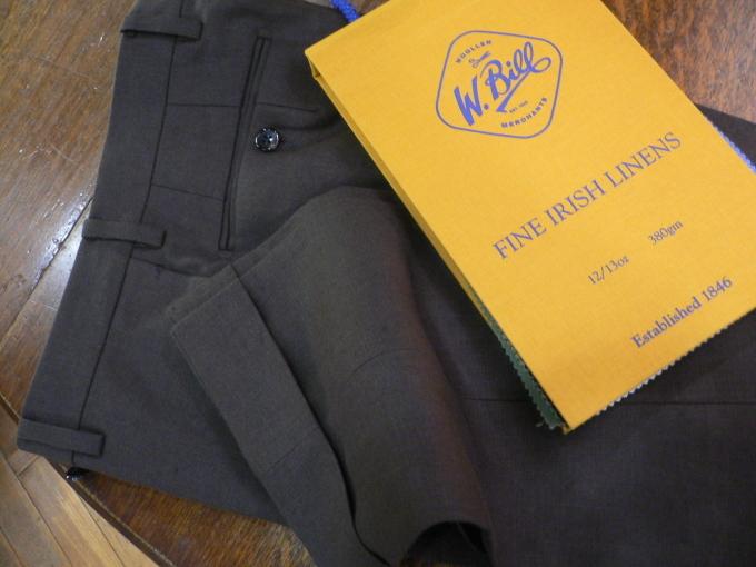 人生を楽しむひと味に  アイリッシュリネン スーツ 「クローゼットに一着は欲しい」_d0060944_11093157.jpg