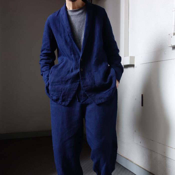 5月の製作 / anotherline shawlcollar heavylinen jkt_e0130546_14075771.jpg