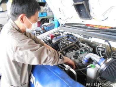 JB23Wジムニークロスアドベンチャー納車整備中(^-^)_c0213517_15055156.jpg