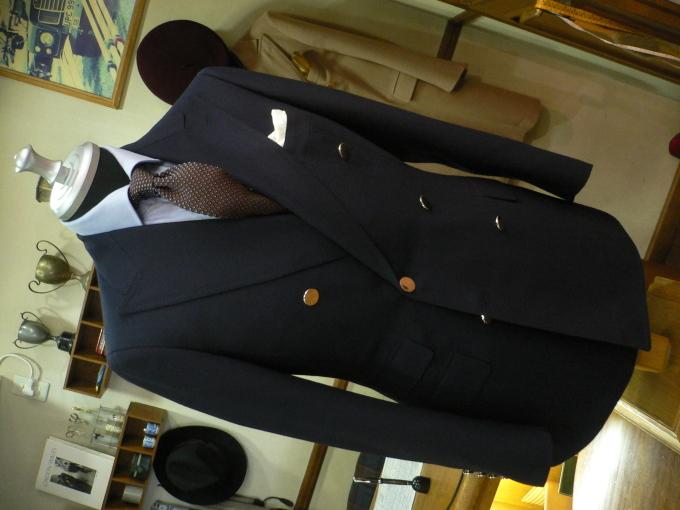 Wジャケットはまずは、ネイビーWジャケットから・・・FOXBROTHERS_d0060944_11203535.jpg