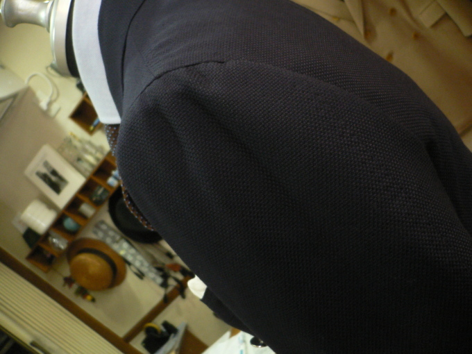Wジャケットはまずは、ネイビーWジャケットから・・・FOXBROTHERS_d0060944_11290584.jpg