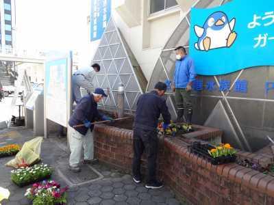 ガーデンふ頭総合案内所前花壇の植替えR3.3.15_d0338682_16505813.jpg