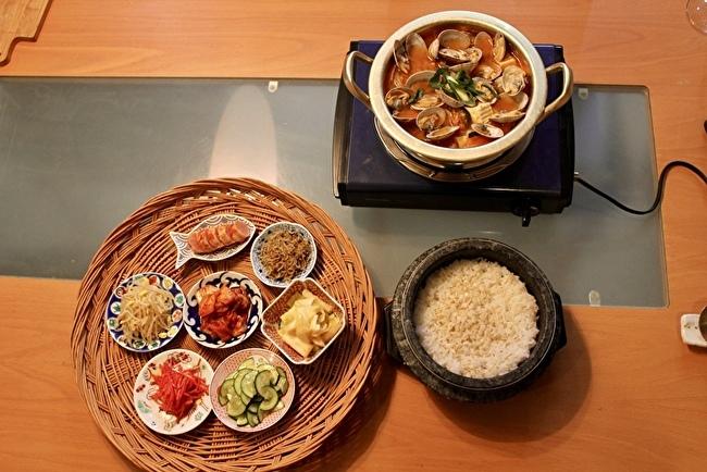 日本のお味噌と納豆で、チョングッチャンと麦ごはん定食_a0223786_15485036.jpg