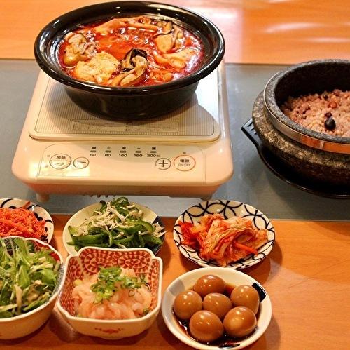 日本のお味噌と納豆で、チョングッチャンと麦ごはん定食_a0223786_15513706.jpg