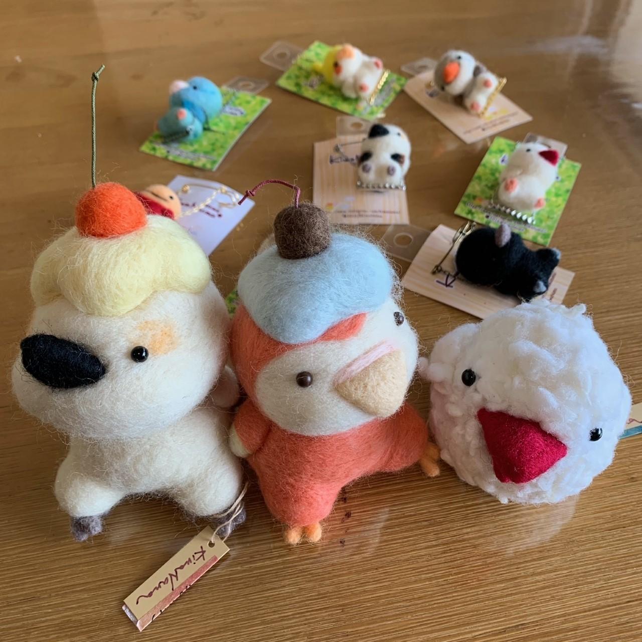 鳥展 KiwaNumaさん羊毛フェルト作品 通販開始します_d0322493_11113376.jpg