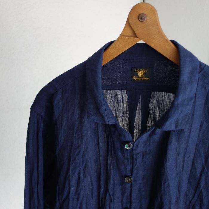 6月の製作 / DA farmers linen shirtcadigan_e0130546_16212365.jpg