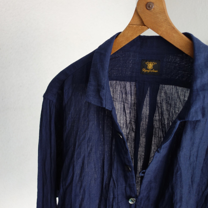 6月の製作 / DA farmers linen shirtcadigan_e0130546_16221752.jpg