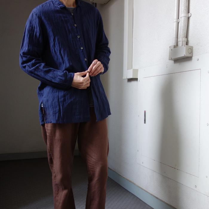 6月の製作 / DA farmers linen shirtcadigan_e0130546_16371614.jpg