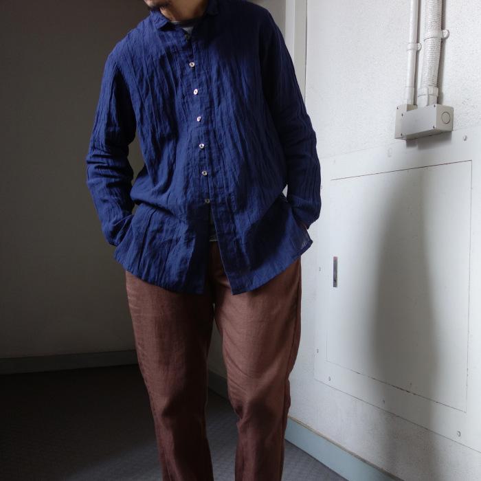 6月の製作 / DA farmers linen shirtcadigan_e0130546_16373309.jpg