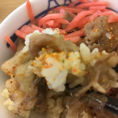 松屋の牛めしミニと豚汁      神戸元町駅店_c0118393_18334433.jpg