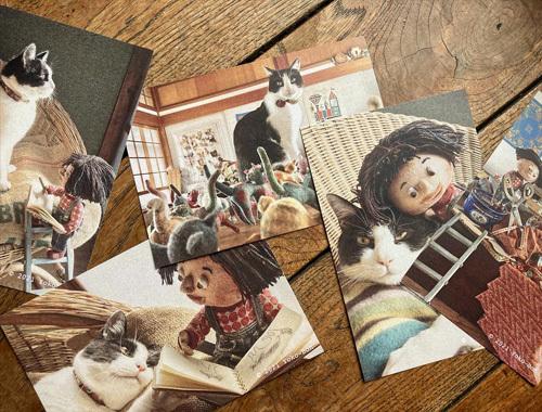 展覧会のお楽しみ。 〜春の展覧会『Yoko-Bon\'s World ! 絵本と猫と人形たちと』より〜_d0077603_11123085.jpg