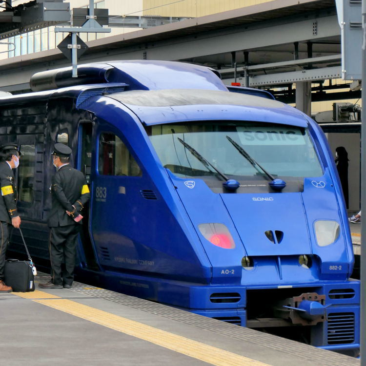JR在来線昼間特急 最長距離列車の旅7 大分 ⇒ 博多 ソニックの旅_a0388583_23510010.jpg