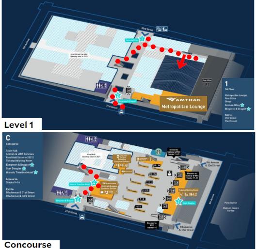 モイニハン・トレイン・ホール最大の見所、『全面的にガラス張りの天井』と『巨大な吹き抜け空間』_b0007805_06004245.jpg