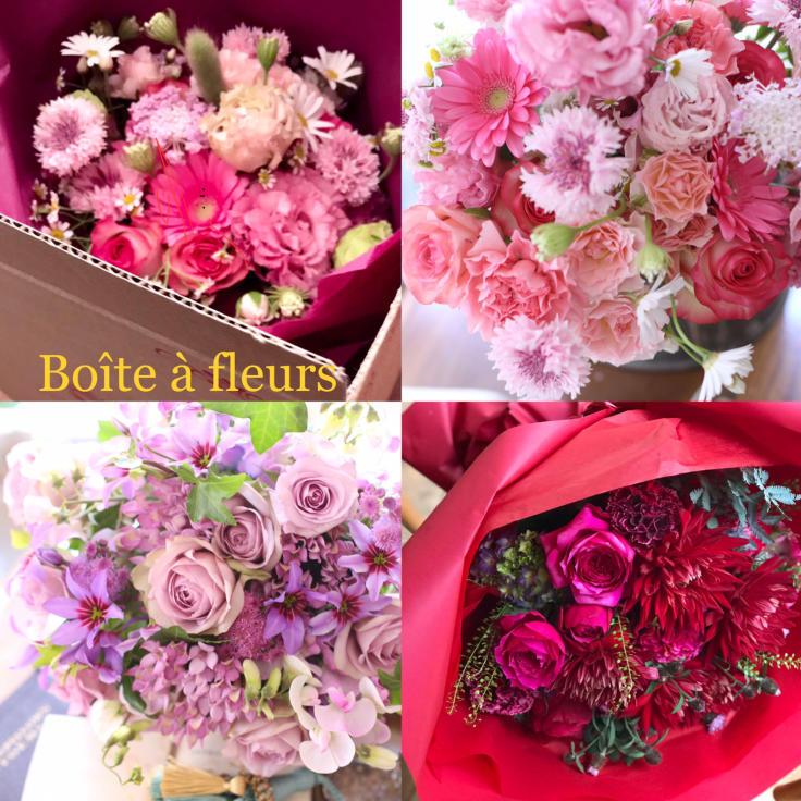 母の日の花箱(花束) 販売致します 〜Boîte à fleurs ボワット・ア・フルール_a0157813_14355621.jpg