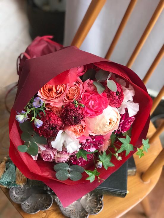 母の日の花箱(花束) 販売致します 〜Boîte à fleurs ボワット・ア・フルール_a0157813_14361037.jpg