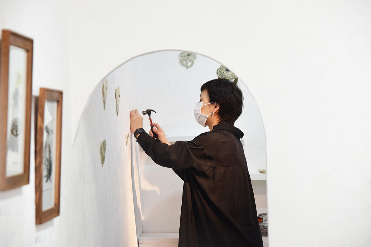 2021.3.26(金) – 3.28(日) 金子ひとみ+オザワミカ 2人展「森へ」@搬入〜初日_e0272050_17361232.jpg