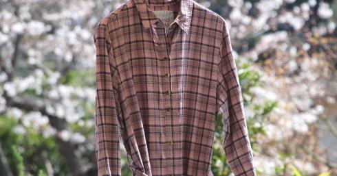 新作♪ FabGarden あじさいパープルのシャツワンピースも登場です。_d0108933_21012933.jpg