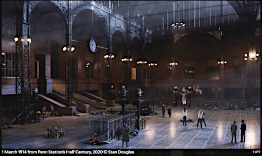 "Stan Douglasさんによる""Penn Station's Half Century, 2020""_b0007805_21520428.jpg"
