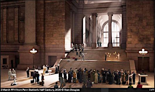 "Stan Douglasさんによる""Penn Station's Half Century, 2020""_b0007805_21520751.jpg"