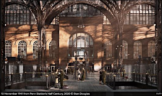 "Stan Douglasさんによる""Penn Station's Half Century, 2020""_b0007805_21521314.jpg"