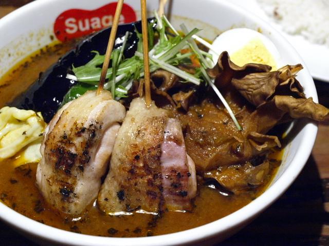 札幌 スープカレー すあげプラス その10 (パリパリ知床鶏と野菜カレー)_d0153062_20253607.jpg