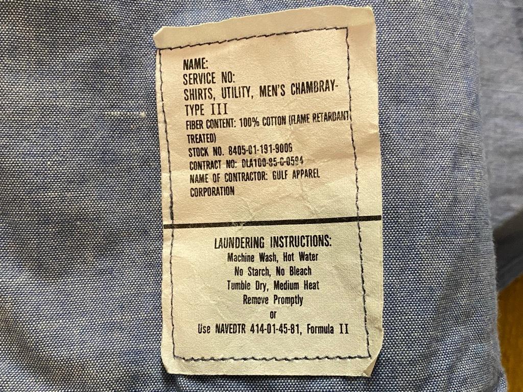 4月3日(土)マグネッツ大阪店スーペリア入荷日‼#1 Military編!!USN Servie Shoes,Chambray,OD Shirt&M-65 Field Pants!!_c0078587_13090778.jpg