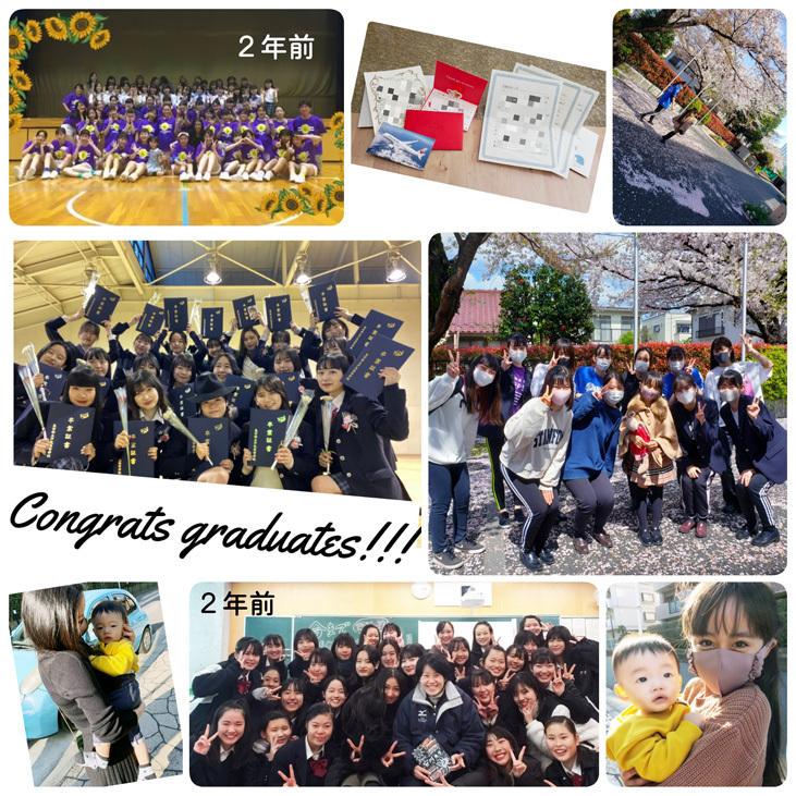 卒業生ちゃん、現役ちゃん、お姉ちゃん達の桜…_d0224894_22284850.jpg