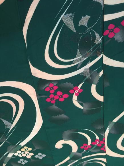 4/3より!「空フル〜カラフル〜vol.18in目黒不動前」緑紫陽花銀杏単衣着物×紫陽花帯♪販売商品10_c0321302_13205922.jpg