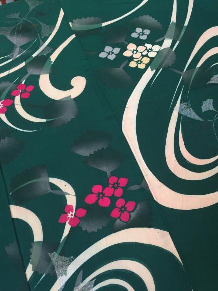4/3より!「空フル〜カラフル〜vol.18in目黒不動前」緑紫陽花銀杏単衣着物×紫陽花帯♪販売商品10_c0321302_13210577.jpg