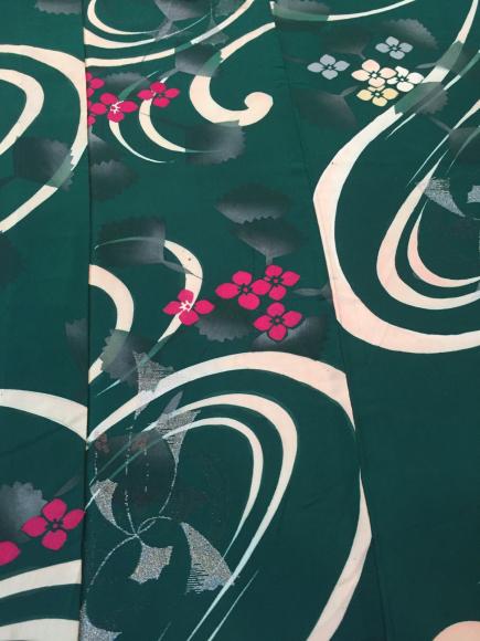 4/3より!「空フル〜カラフル〜vol.18in目黒不動前」緑紫陽花銀杏単衣着物×紫陽花帯♪販売商品10_c0321302_13220682.jpg