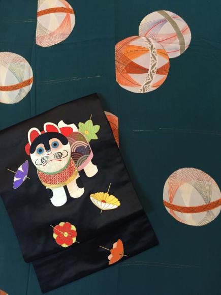 4/3より!「空フル〜カラフル〜vol.18in目黒不動前」手毬袷着物×狛犬刺繍帯♪販売商品12_c0321302_13433447.jpg