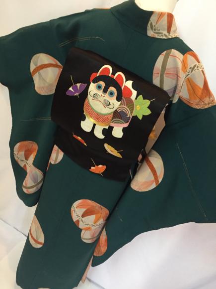 4/3より!「空フル〜カラフル〜vol.18in目黒不動前」手毬袷着物×狛犬刺繍帯♪販売商品12_c0321302_14275362.jpg