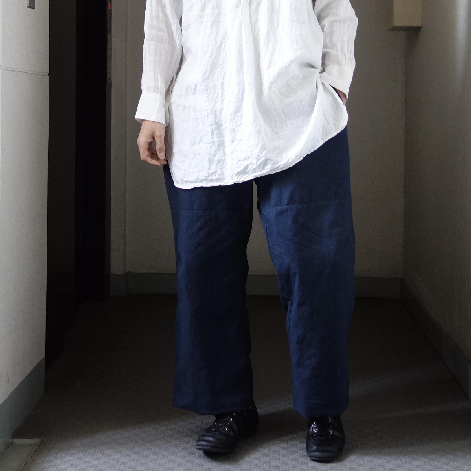 6月の製作 / tanker work cotton-linen pants / 別注品_e0130546_16012082.jpg