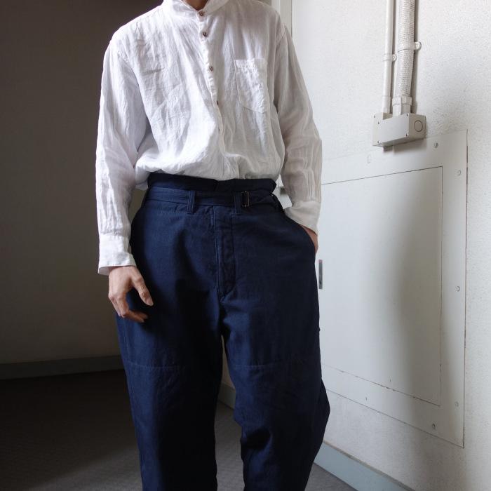 6月の製作 / tanker work cotton-linen pants / 別注品_e0130546_16015649.jpg