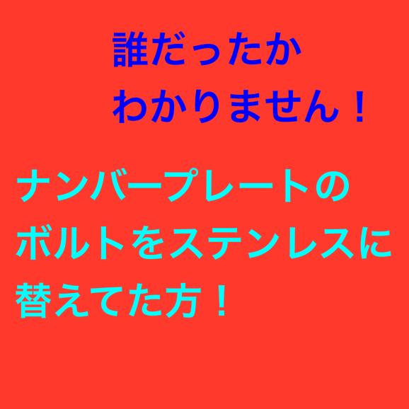 ステンレスのナンバーボルトの注意点_f0032891_07323451.jpg