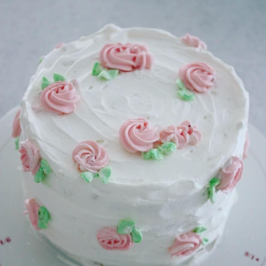 お花のバースデーケーキ 。 _d0339705_22194076.jpg
