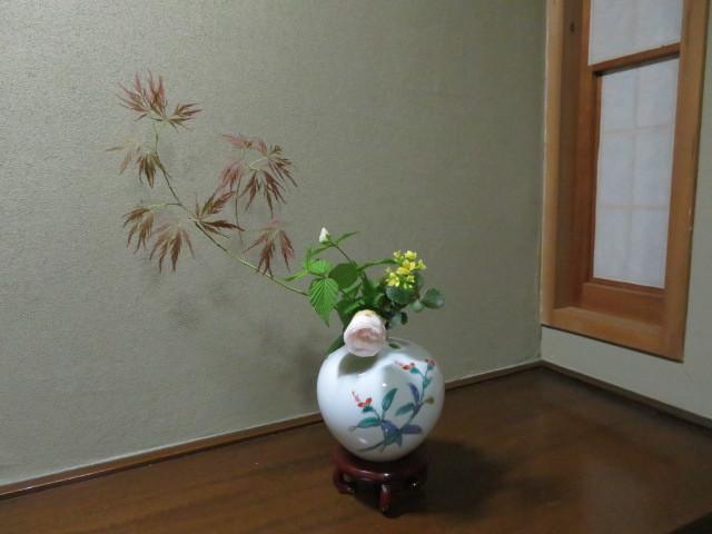 手向山(タムケヤマ)紅葉を活ける_f0329849_17390380.jpg