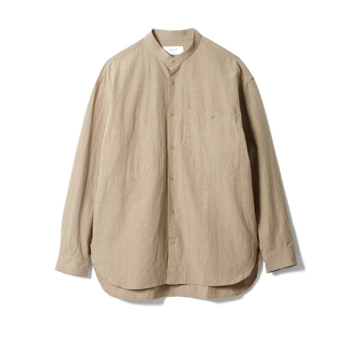 "SANDINISTA""Band Collar Cotton Linen Military Shirt\""_d0101000_16003115.jpeg"