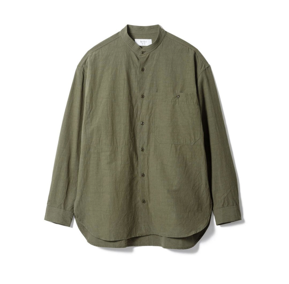 "SANDINISTA""Band Collar Cotton Linen Military Shirt\""_d0101000_16003749.jpeg"