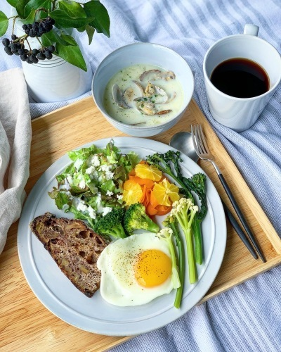 オーガニック野菜の朝食_b0145846_19135197.jpeg