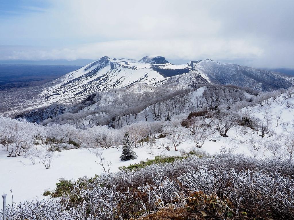 樹氷に感動の風不死岳、2021.4.6ー速報版ー_f0138096_18524932.jpg