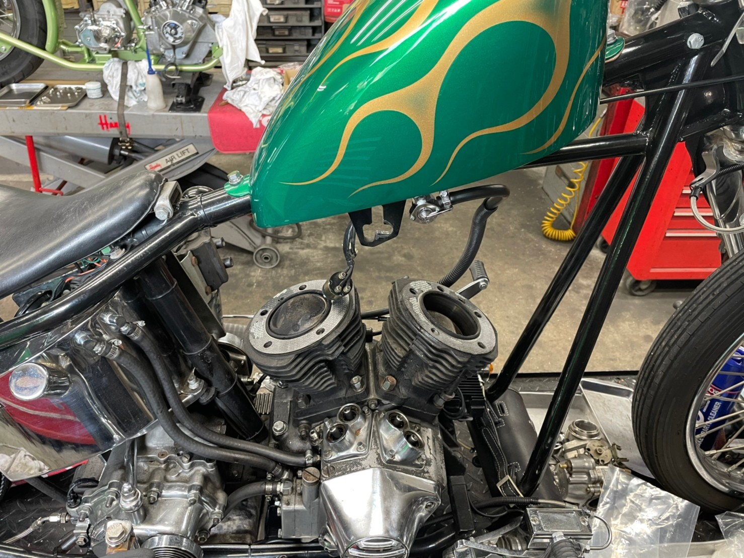 \'73 Shovel Rigid エンジンオーバーホール & カスタム_b0160319_16174376.jpg