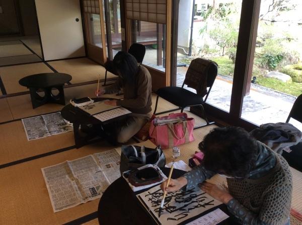 「芭蕉の館」書道同好会_f0289632_17373607.jpg