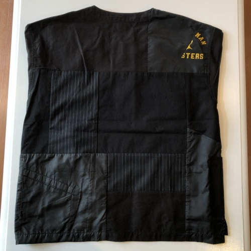 H.R.REMAKE / HRR USED NYLON MIX PTW PULLOVER SS SHIRTS_f0139457_13501928.jpeg