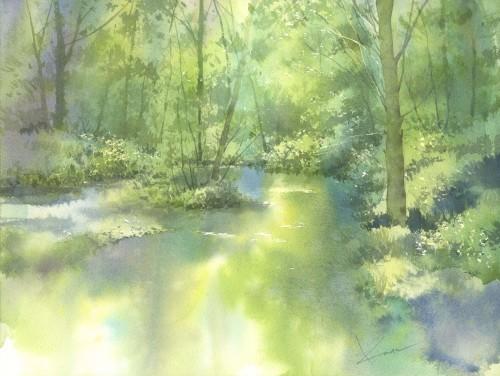 水面 水彩画_f0176370_16450038.jpeg
