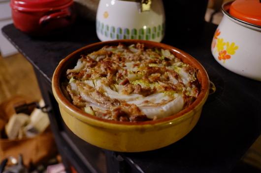 白菜豚肉オーブン料理。_a0206732_07355486.jpg